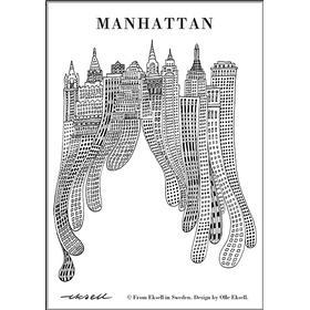 Olle Eksell Manhattan Canvas 50x70cm Affisch