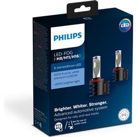 Philips X-treme Ultinon LED pære H8 H11 H16 2 stk.