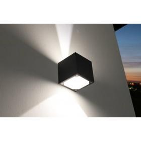 Nordtronic Udendørslampe til væg - LED - Firkantet - 3,5W - Ra94