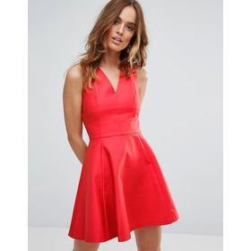 Sisley Skater Dress Red