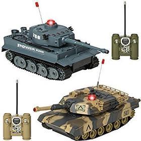 R/C Tanks set IRDA, 2 tanks med remotes.