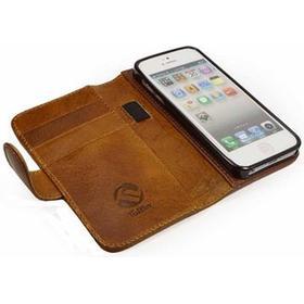 Tuff-Luv iPhone 5 / 5S / SE Tuff-Luv Magic Grip Læder Pung Taske - Brun