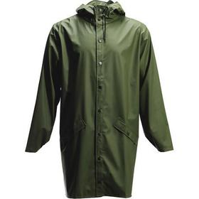 Rains Long Rain Jacket Green