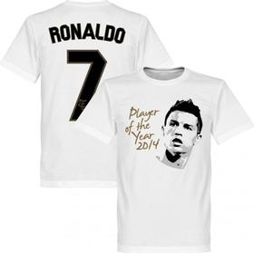 Retake Real Madrid Player of the Year T-Shirt 14 Ronaldo 7. Sr