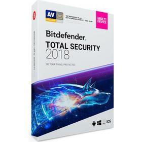 BitDefender Total Security 2018 - 3 PC / 1 år