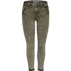 Only Carmen Reg Ankle Color Skinny Fit Jeans Green/Grape Leaf