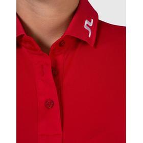 J.Lindeberg Tour Tech Slim Tx Jersey Polo Shirt Red/Red Intense
