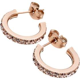 Aagaard Glow Mini Stainless Steel Rose Gold Plated Earrings w.Transparent  Cubic Zirconium - 1.5 05febf8c43bff