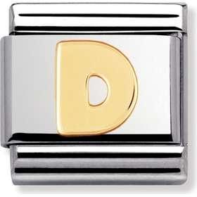 berlocker bokstav guld smycken. Nomination Composable Classic Link Letter D  Stainless Steel Gold Charm (030101 04) 794a0f3b6915c