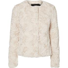 bfa4b6cd Vero Moda Short Faux Fur Jacket Oatmeal - Sammenlign priser hos PriceRunner