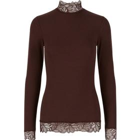 Y.A.S Lace Long Sleeved Top Brown/Decadent Chocolate