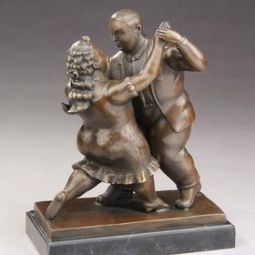 Dansende par i bronze
