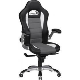 Xcko gamer kontorstol sort/hvid med on/off armlæne - Høj ryg