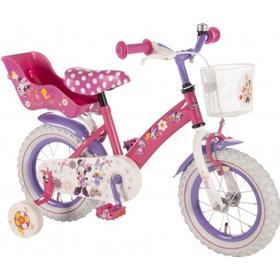 "E & L Disney Minnie Mouse - Børnecykel - Pink/hvid/lille -12"""
