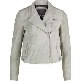 da795e96 biker jakke dametøj. Y.A.S Biker Ruskinds Leather Jacket Green/Seagrass