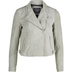 Y.A.S Biker Ruskinds Leather Jacket Green/Seagrass