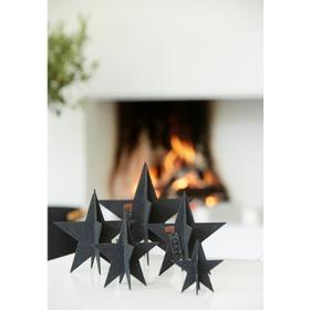 OOhh Collection stjerner sorte - sæt 3 stk