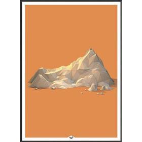 Incado Low Poly Mountain 2 50x70cm Plakater