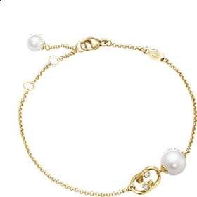 1a02975eba6 Georg Jensen Magic Gold Bracelet w. White Pearls and Diamonds - 18.5cm  (10009350