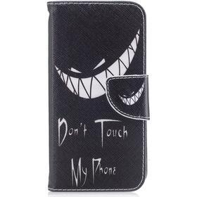 Apple iPhone X/XS PU læder Flipcover m. Kortholder - Dont Touch