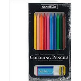 General Woodless Coloring Pencil Set 12-pack