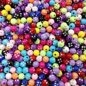 Pärlor 100 st 8mm - Akrylpärlor för Armband och Halsband - 12 Färger