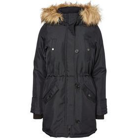 Vero Moda Casual Parka Coat Black/Black Beauty
