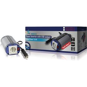 HQ Strömomvandlare Modifierad Sinusvåg 12 VDC - AC 230 V 150 W F (CEE 7/3) / USB