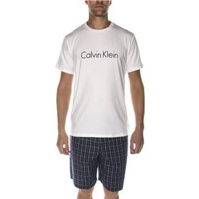 Calvin Klein - Logo Pj Set White/Blue