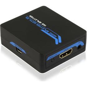 DELTACO HDMI-splitter, 1xinput, 2xoutput, IR return, HDCP, CEC, svart