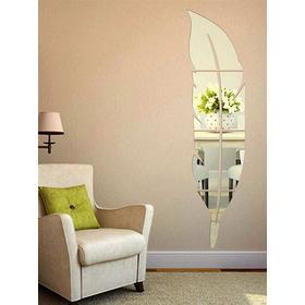 Feather Shape Home Decor Acrylic Mirror Wall Sticker