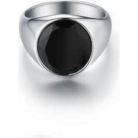 Northern Legacy Signature Silver PVD Plated Ring w. Black Onyx - 0.6cm