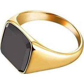 Northern Legacy Signature Stainless Steel Golden PVD Plated Ring w. Black  Onyx - 0.6cm 551650a5843a5