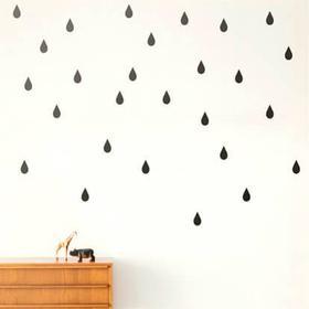 Ferm Living Ferm Wallsticker - Mini Drops Black