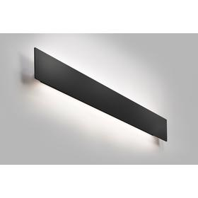 Cover væglampe 120 cm Sort