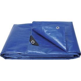 PROTEGO Presenning blå med öljetter 6x10 m