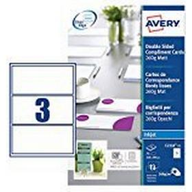 Avery C2358-25 Printable Double-Sided Compliment Cards, 3 Cards Per A4 Sheet