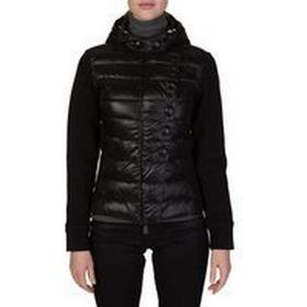 Moncler Black Padded Panel Cardigan - Size 14