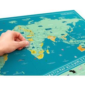 Luckies Skrabekort Verdenskort Scratch Map Wild World
