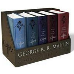 George R. R. Martin's a Game of Thrones Leather-Cloth Boxed Set (Song of Ice and Fire Series): A Game of Thrones, a Clash of Kings, a Storm of Swords, (Häftad, 2015)