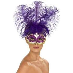 Smiffys Lila Venetiansk Mask
