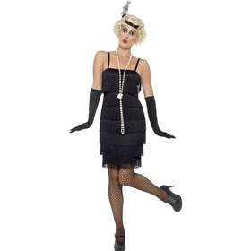 klänning 20 tal. Smiffys Flapper Costume Black with Short Dress 56853bee7b9d8
