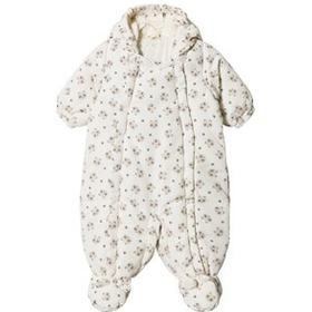 United Colors of Benetton Panda Bear Print Hooded Overall Off White 74 (9-12 4c85476dc651d