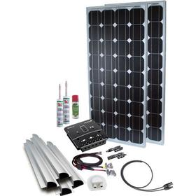 Solcelleanlæg til campingvogn BASE Camp 3, 200W/12V, PWM, Spoiler