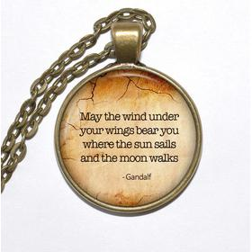 Halsband brons silver gandalf sagan om ringen citat quote