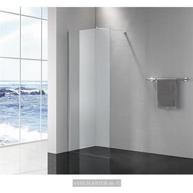 Alterna Picto fast brusevæg 89x200cm Klart glas