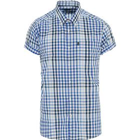 Barbour Lifestyle Russel Tailored Fit Check Short Sleeve Shirt Blue