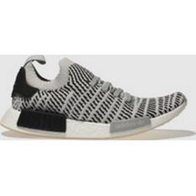 Adidas Light Grey Nmd_r1 Stlt Primeknit Trainers
