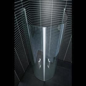 Duschhörn Arrow Free-800x950 mm (Vändar)-Klarglas