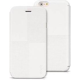 Flip leather check case HOCO - iPhone 6 Plus / 6S Plus (hvid)